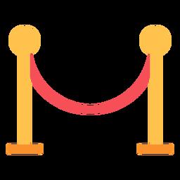 Soporte de cuerda de puntal icono plano
