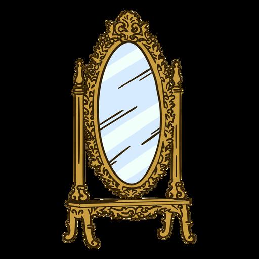 Stand espejo adornado ilustración
