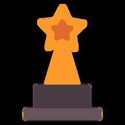Icono plano de trofeo de premio estrella