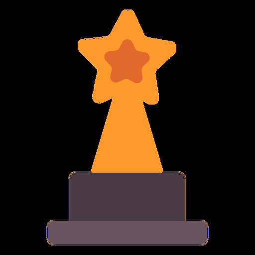 Star award trophy flat icon