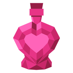 Ilustración de perfume de corazón teselado