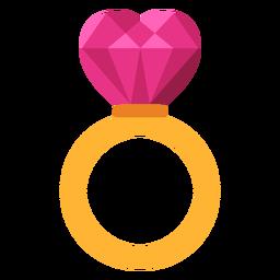 Ilustración de anillo de corazón teselado
