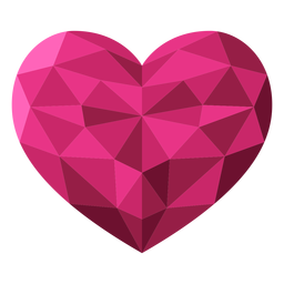 Ilustración de corazón rosa teselado