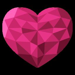 Tessellate pink heart illustration