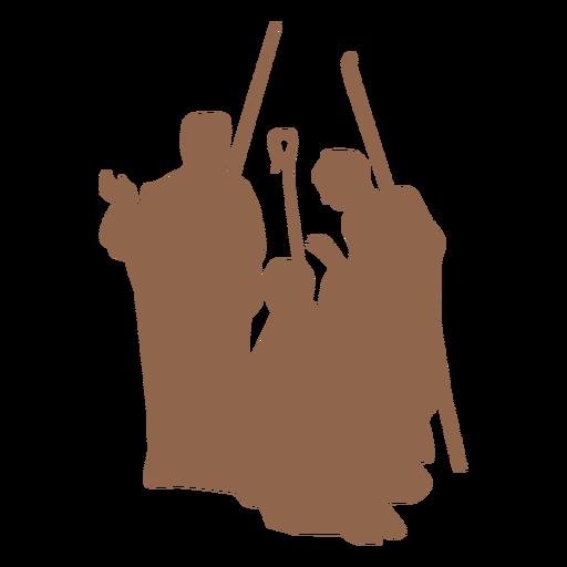 Three wise men scene silhouette