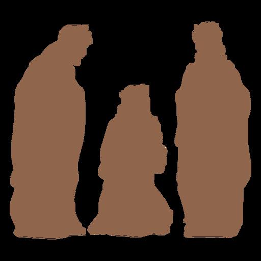 Three wise men silhouette
