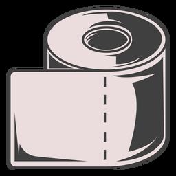 Ilustração de rolo de papel higiênico