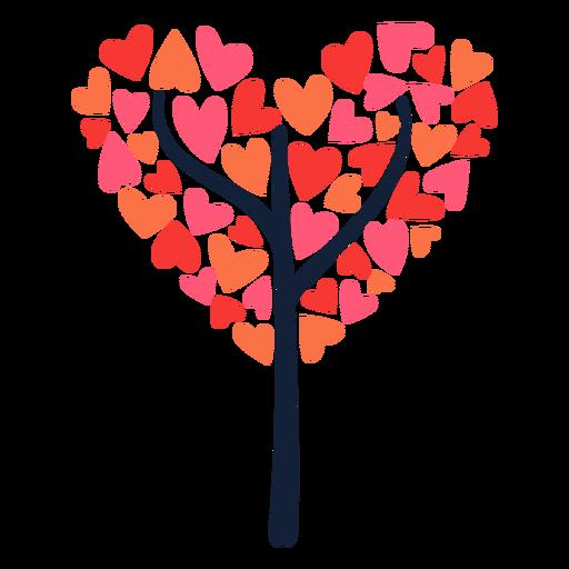 Tree heart shape flat
