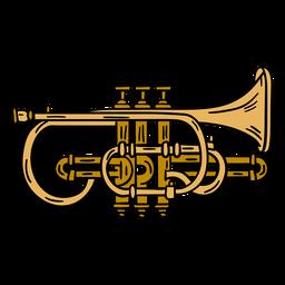 Ilustración de instrumento de trompeta