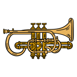 Trumpet instrument illustration