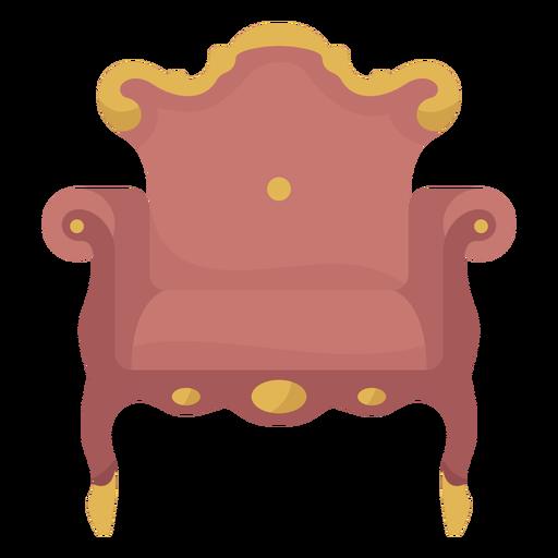 Victorian arm chair illustration Transparent PNG