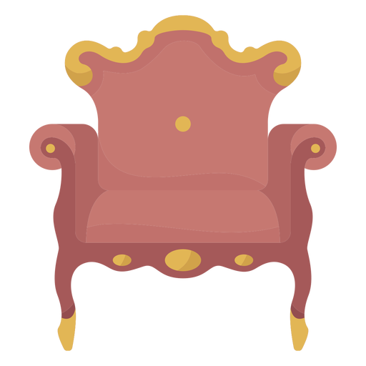 Victorian arm chair illustration