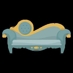 Ilustración de chaise lounge victoriano