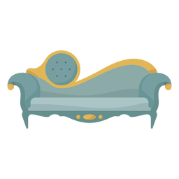 Victorian chaise lounge illustration