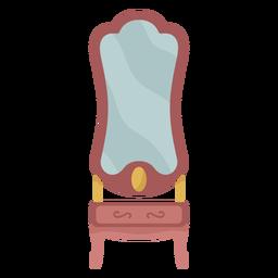 Ilustración de espejo de tocador victoriano
