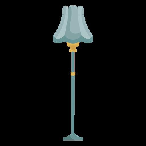 Victorian floor lamp illustration