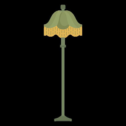 Ilustración de lámpara victoriana