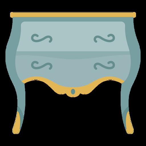 Ilustración de tocador de cajón pequeño victoriano