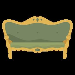 Ilustración de sofá victoriano