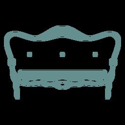 Sofá victoriano vintage