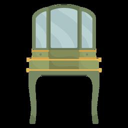 Espejo de la estación de maquillaje de vanidad victoriana