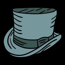 Ilustración de sombrero de copa de hombres vintage