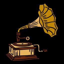 Ilustración de tocadiscos vintage
