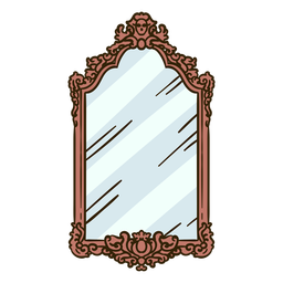 Ilustración de espejo de pared vintage