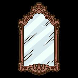 Vintage wall mirror illustration
