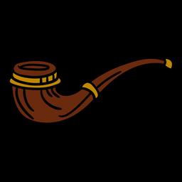 Ilustración de pipa de fumar de madera vintage