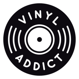Vinyl addict record quote badge