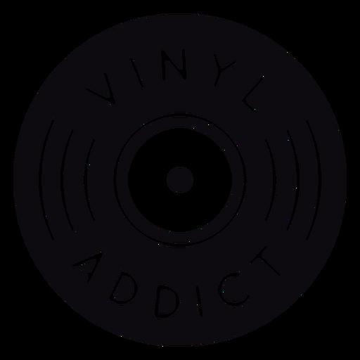 Vinyl addict record quote badge