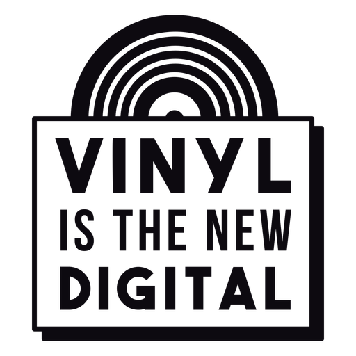Vinyl the new digital badge