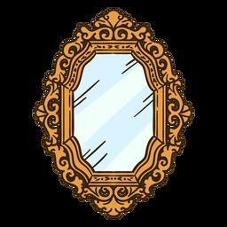 Espejo de pared adornado ilustración