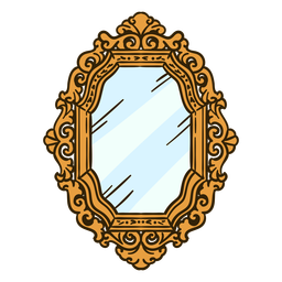 Wall mirror ornate illustration