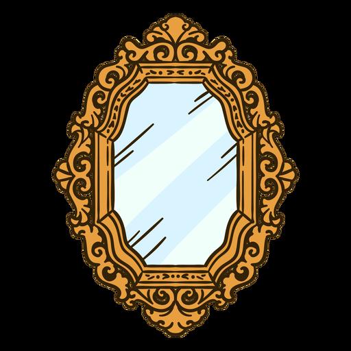 Wall mirror ornate illustration