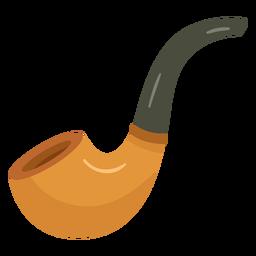 Ilustración de pipa de fumar de madera