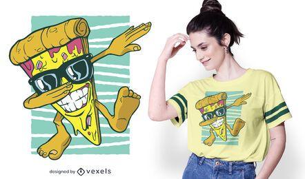 Diseño de camiseta de pizza dabbing