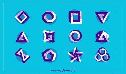 Logo-Set für abstrakte Formen