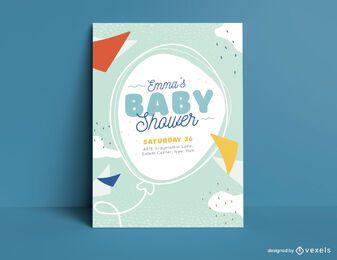 Babyparty-Einladungsschablone