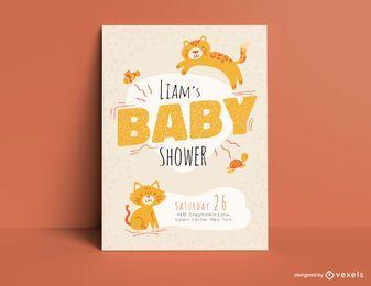 Modelo de cartão de festa de chá de bebê