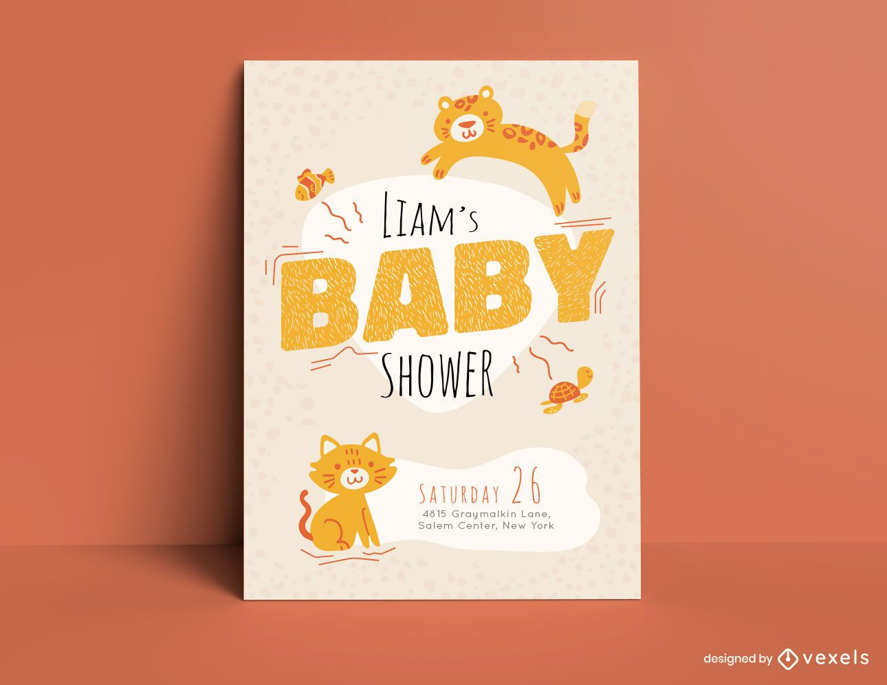 Plantilla de tarjeta de fiesta de baby shower