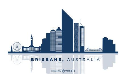Brisbane Australia Skyline Design