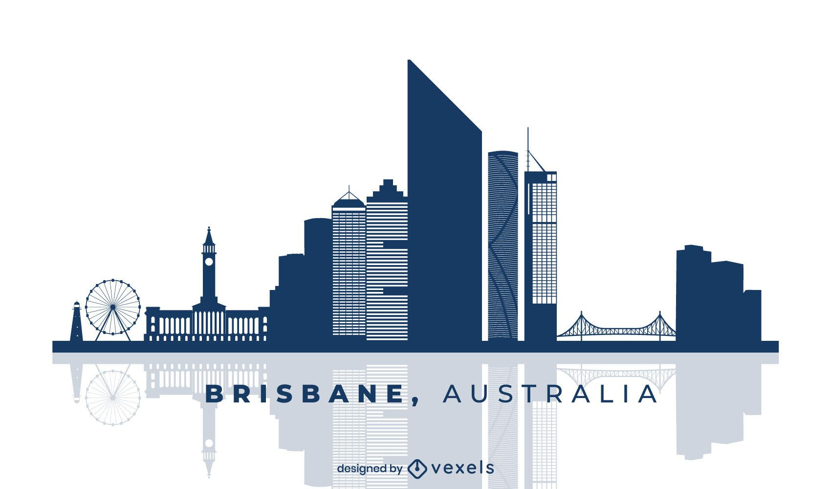 Brisbane Australia Skyline Design