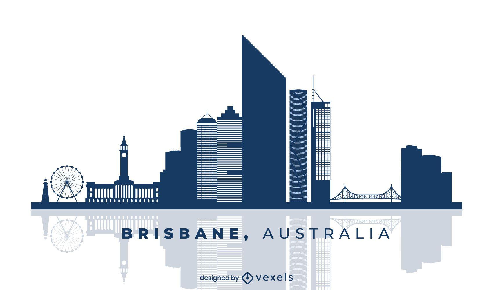 Dise?o del horizonte de Brisbane Australia