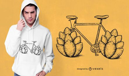 Bicycle hops t-shirt design