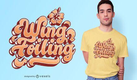 Diseño de camiseta con estampado de alas.