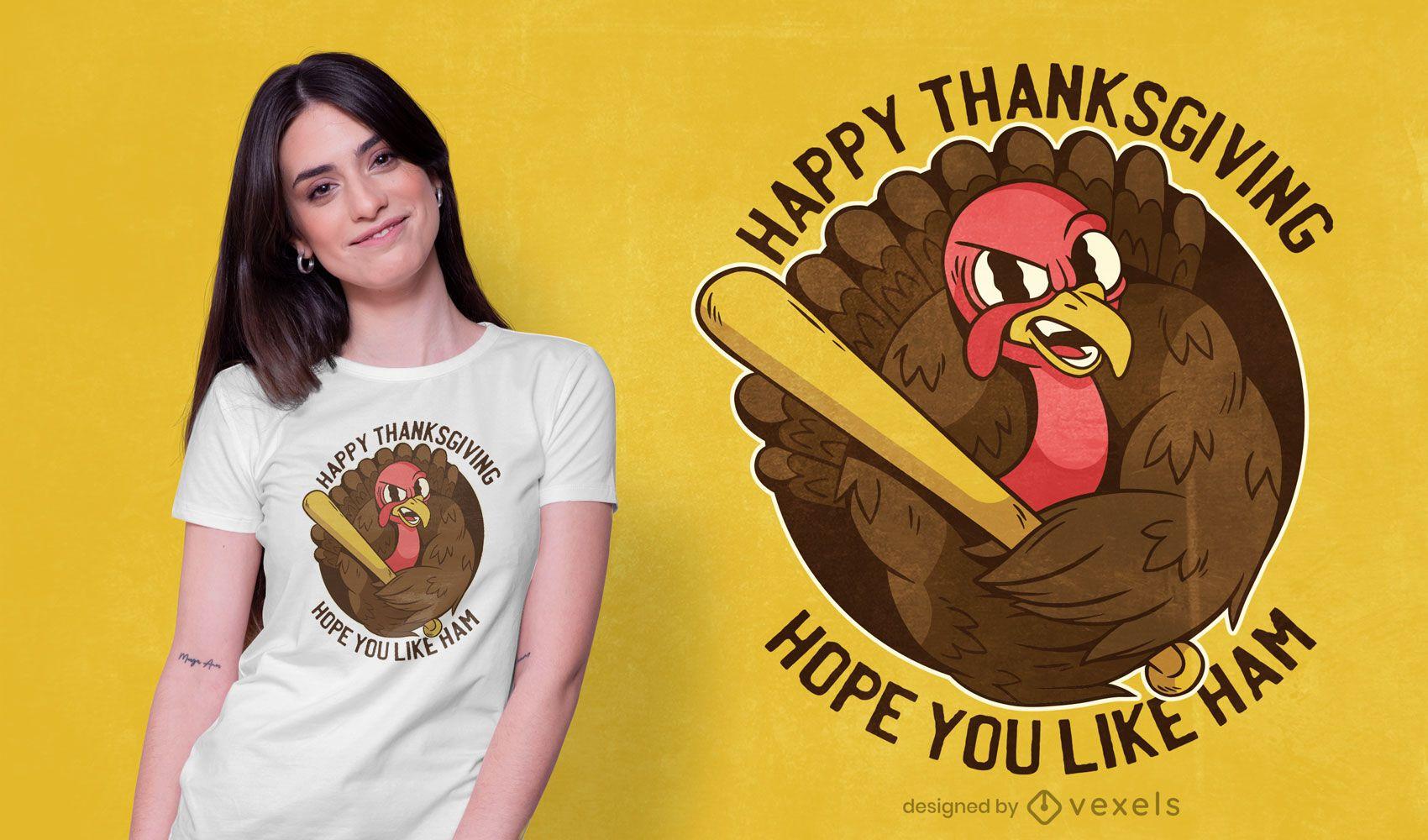 Thanksgiving turkey t-shirt design