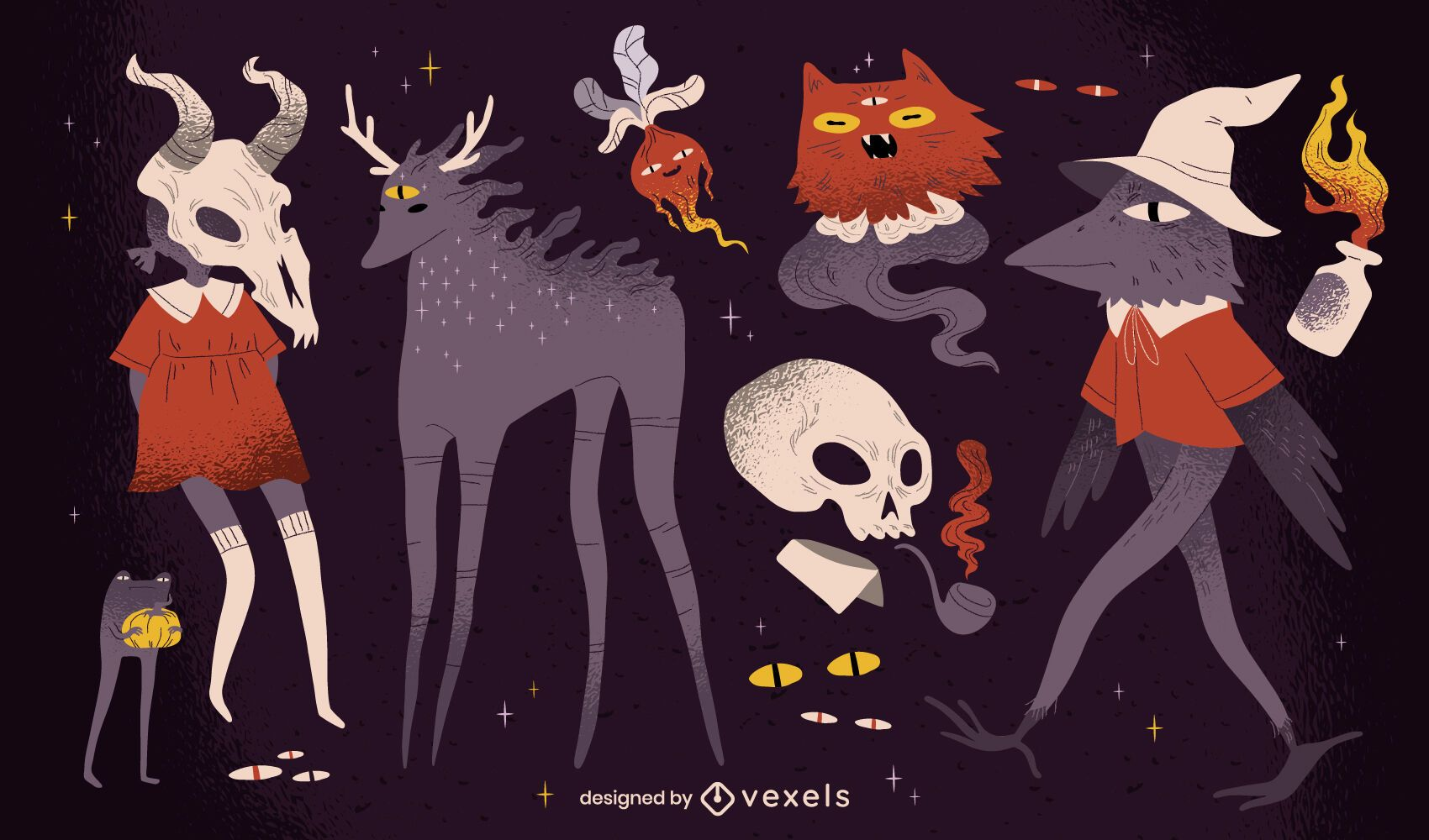 Paquete de criaturas espeluznantes de Halloween