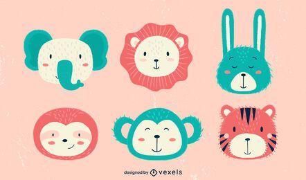 Pacote de ilustração de animais fofos